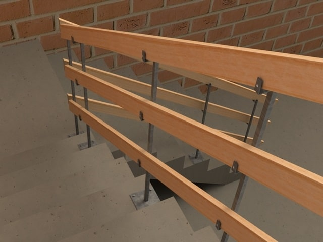 Guarda Corpo para Escada de Obras